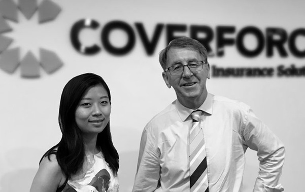 Joyce Xu and Andrew Ferguson at Coverforce